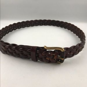 Cole Haan Men's Weaved Leather Belt made in Italy